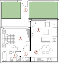 Floor-plans of maisonettes Edem II Clubhouse | on